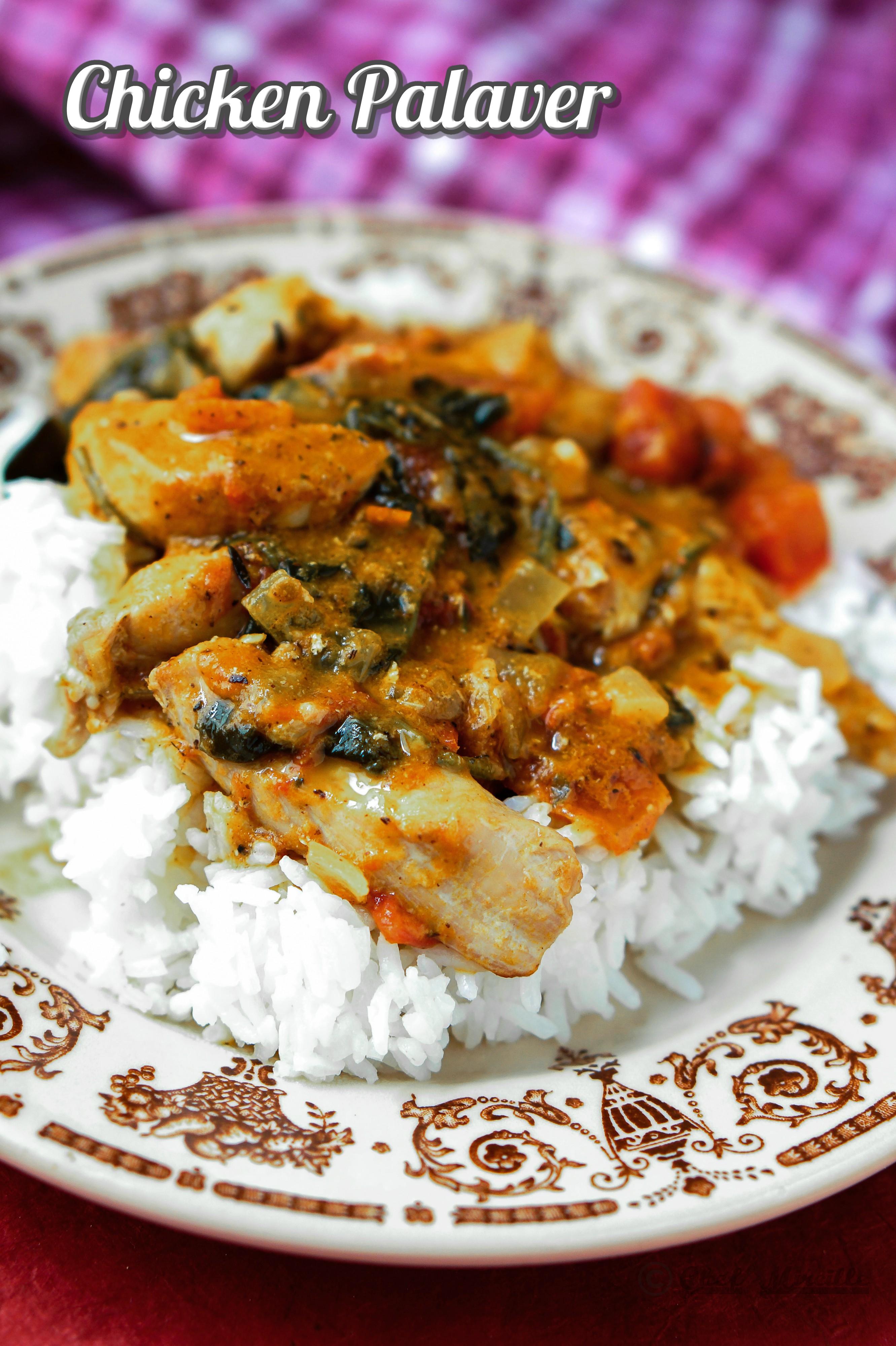 Chicken Palaver - Ghanian Chicken Peanut Stew
