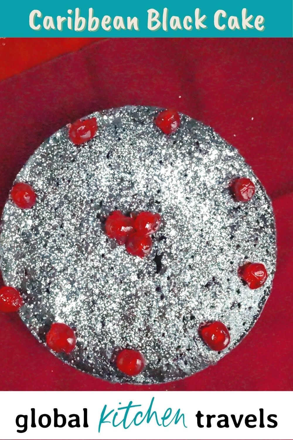 Caribbean Fruit Cake with text