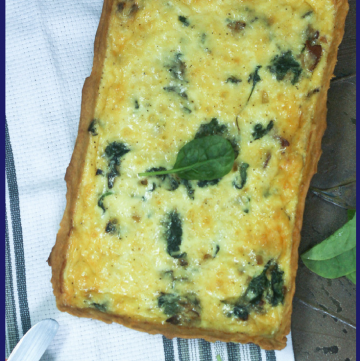 Irish Quiche with Bacon and Spinach