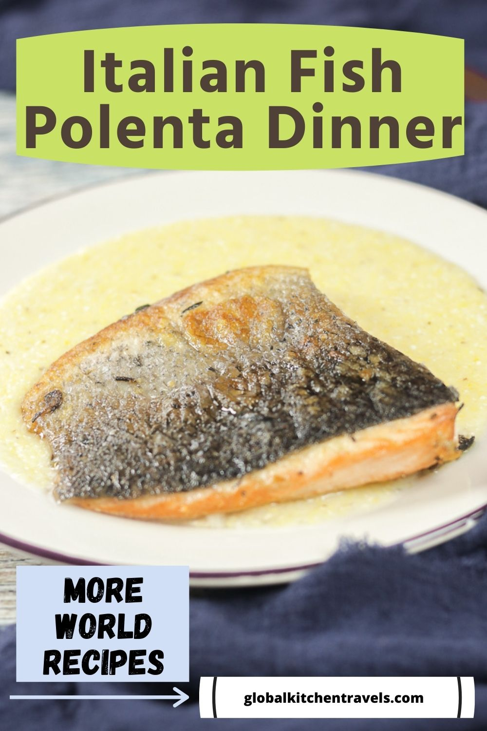 salmon and polenta with text