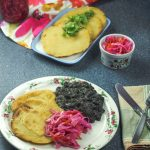 Cheese Stuffed Arepas & Beans - Vegetarian Dinner South American Style