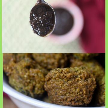 Spinach Phulourie & Tamarind Chutney