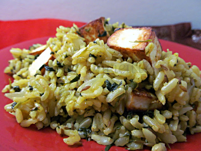 Spinach Rice & Paneer