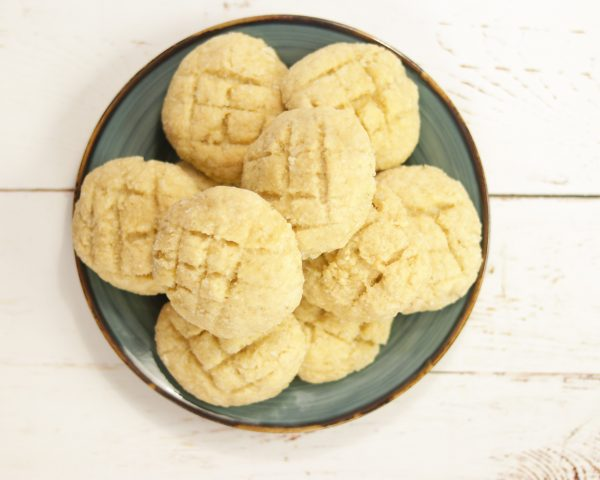plate of Bolinhas - Goan Coconut Cookies