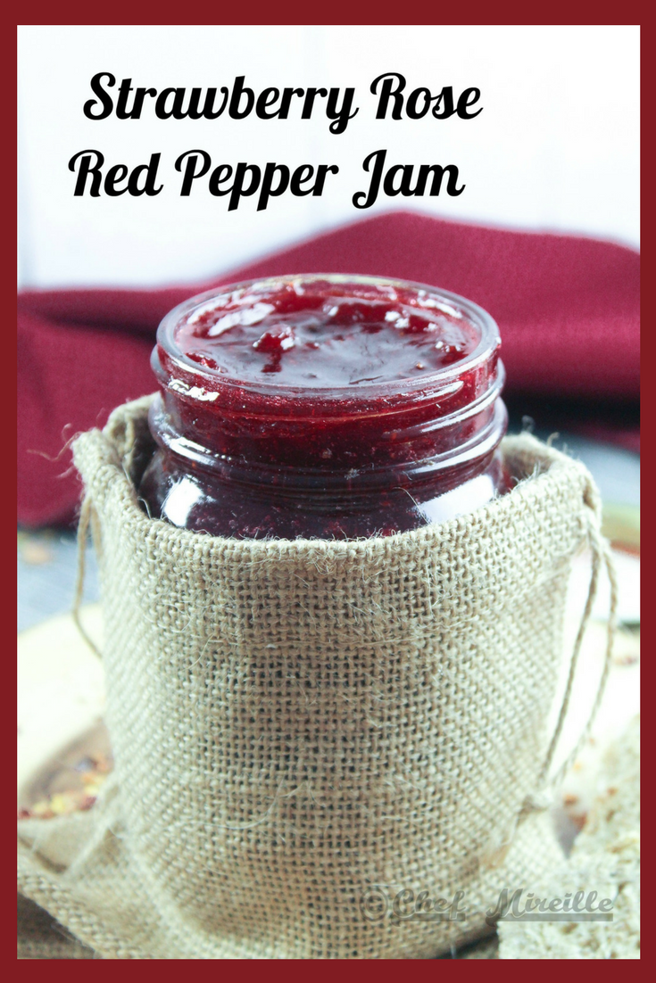 Strawberry Rose Red Pepper Jam with text