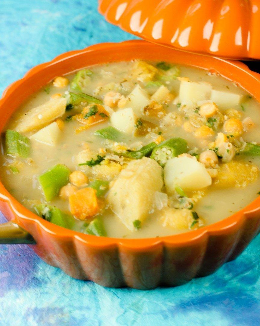 Chickpea & Okra Ground Provision Soup