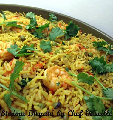 Easy Rice Cooker Shrimp Biryani