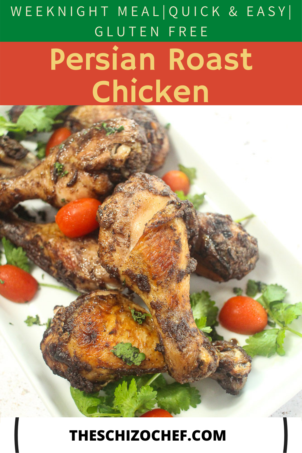 plate of chicken with text