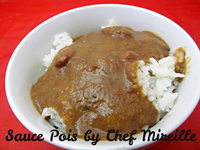 Sauce Pois - Haitian Red Bean Sauce aka Sos Pwa or Sauce Pwa.