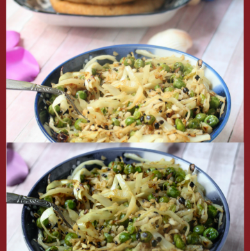 Cabbage Foogath - Goan Vegetable Stir Fry