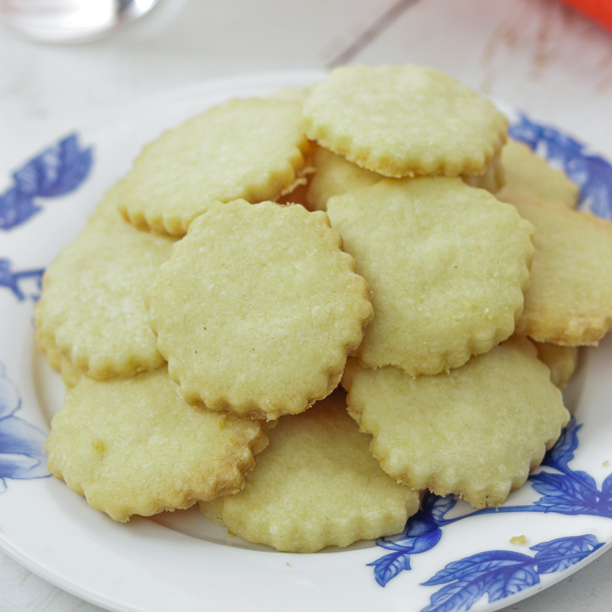 plate of Uppakra - Swedish Butter Cookies