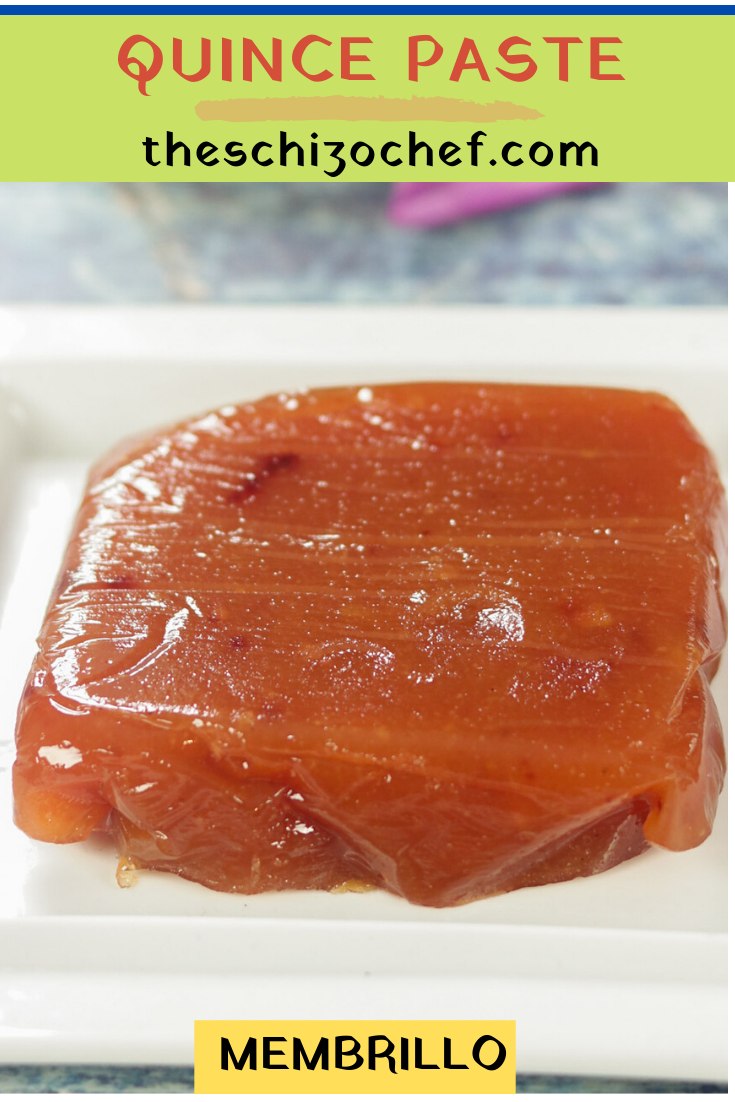 Quince Paste - Membrillo recipe