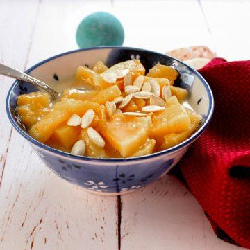 Thai Stewed Pumpkin Dessert #vegan
