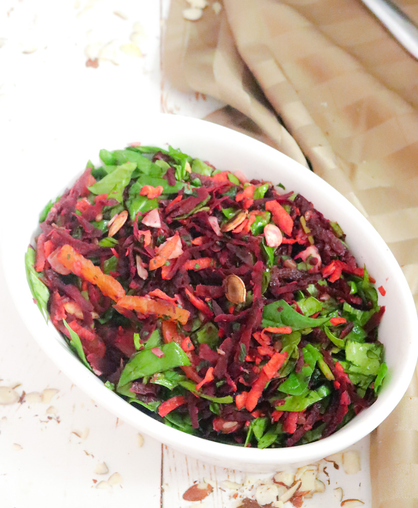 Beet Carrot Salad in a bowl