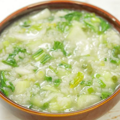 Chinese Bok Choy Congee