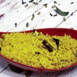 Sri Lankan Turmeric Rice - Kaha Bath