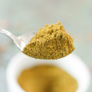 Ras el Hanout Spice Mix on a spoon