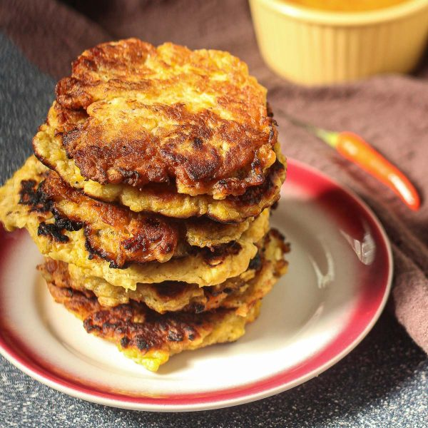 stack of plantain fritters
