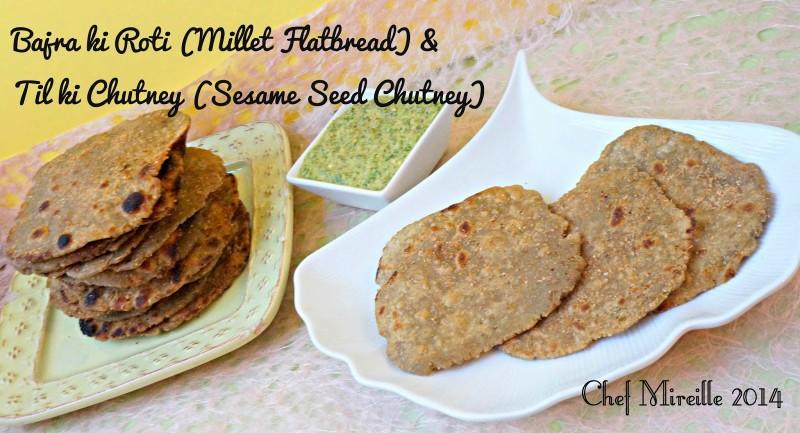 Millet Flatbread, Sesame Seed Chutney