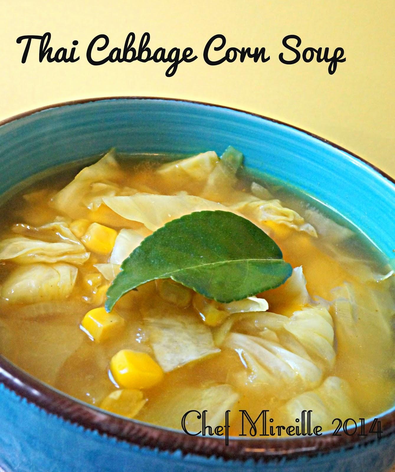 Thai Cabbage Corn Soup