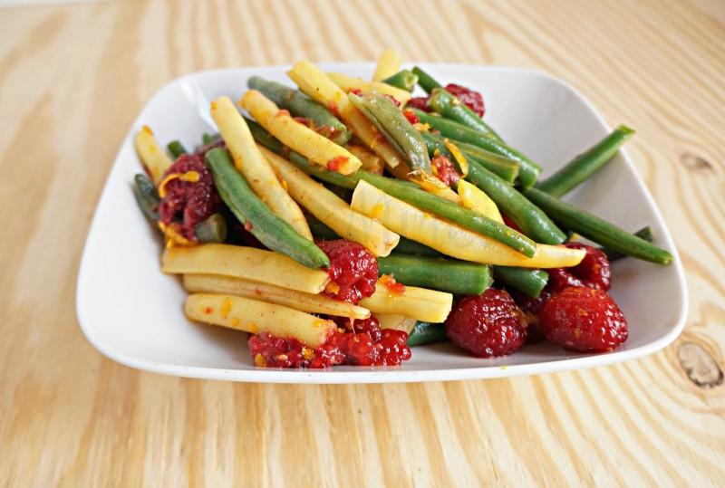 Green Bean Raspberry Salad