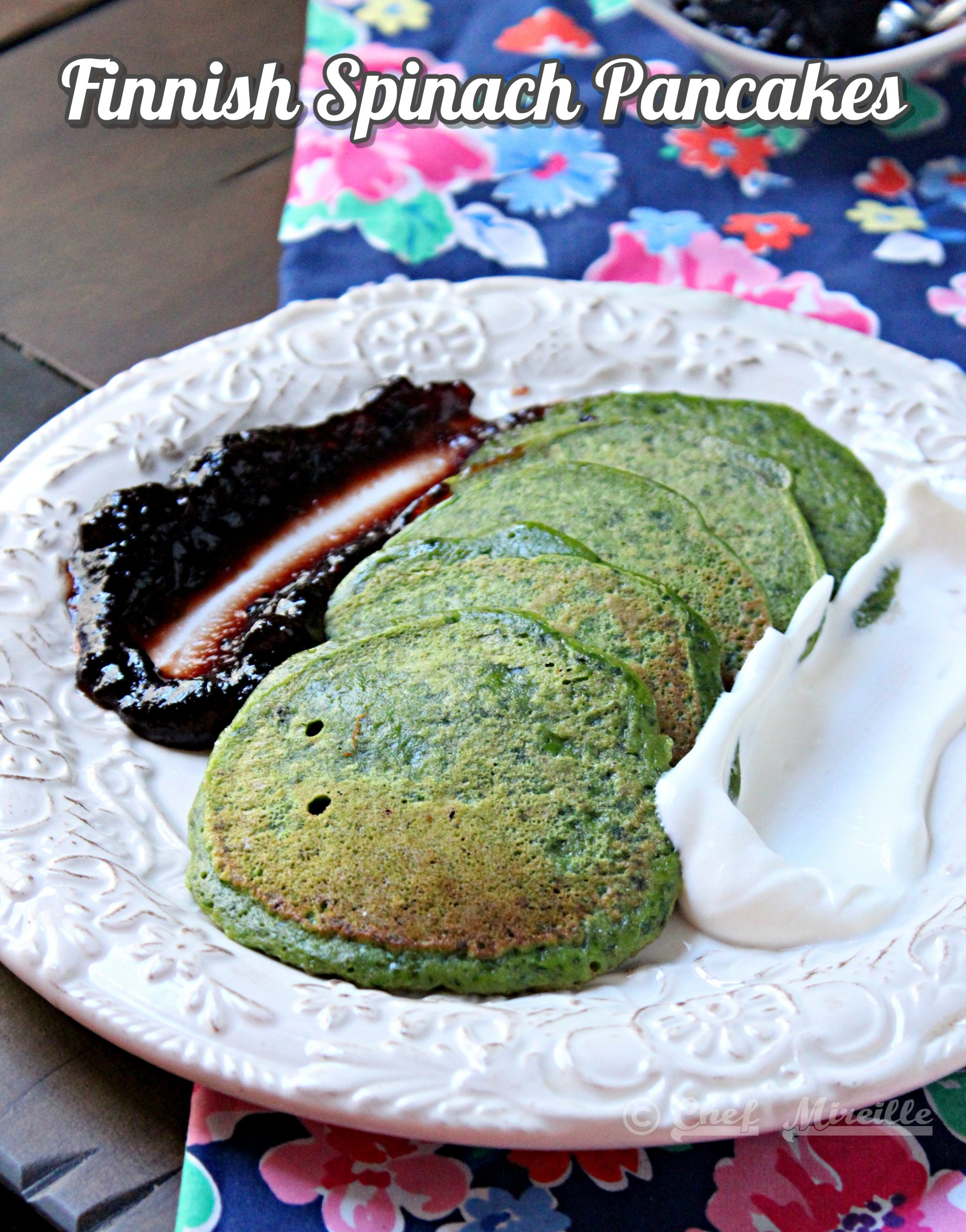 Finnish Spinach Pancakes – Pinaattiletut