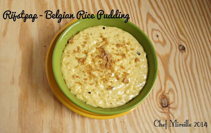 Belgian Rice Pudding, Belgium Rice Pudding