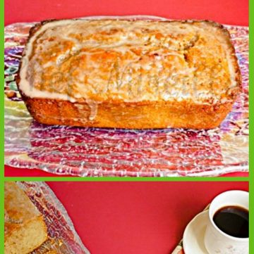 Cardamom Coffee Pound Cake with a cup of coffee