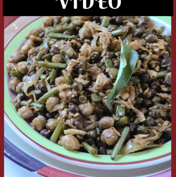 Chana Fugad - Chickpea Saute with French Beans + VIDEO