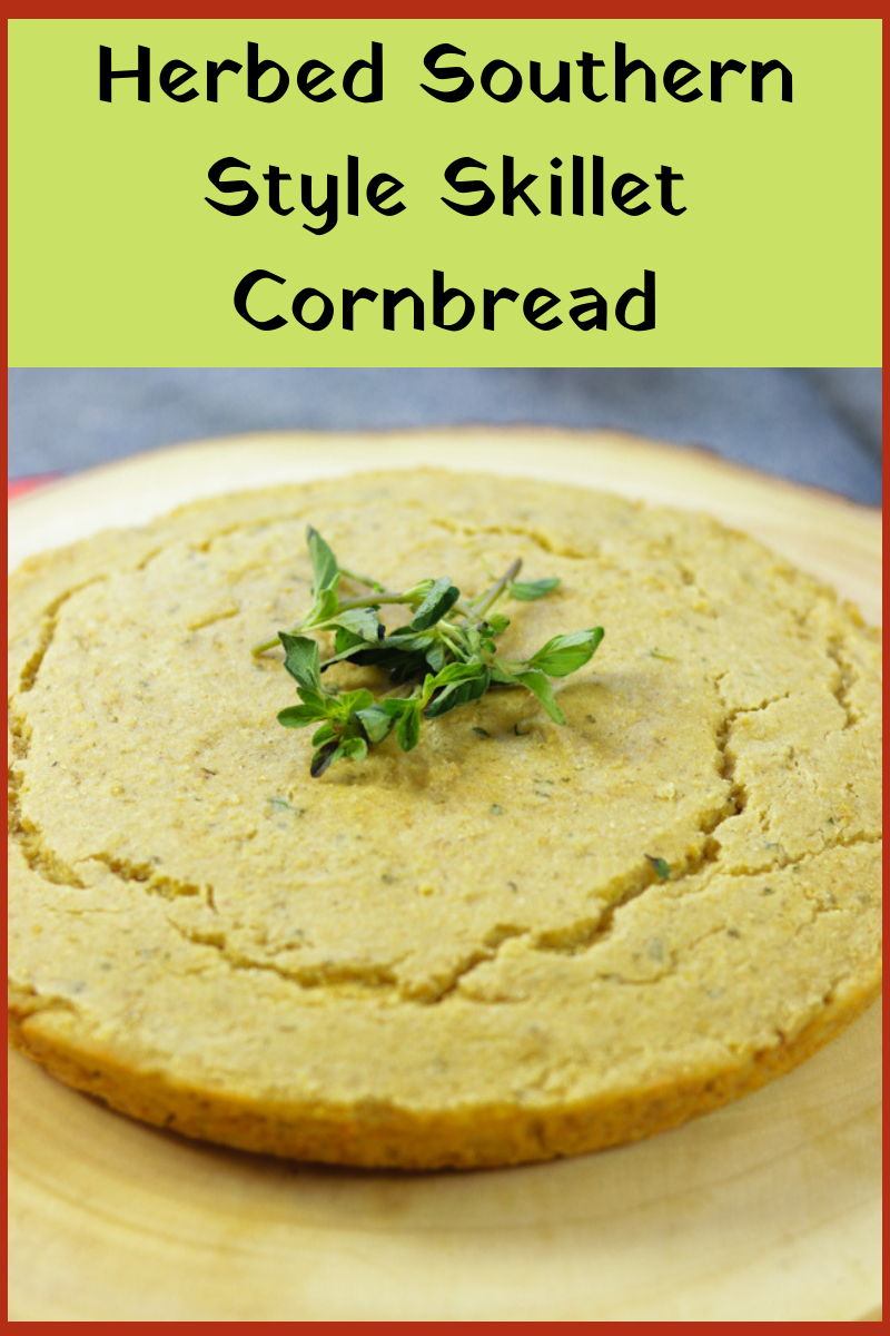 Herbed Southern Style Skillet Cornbread recipe