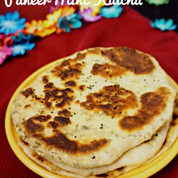 Indian Brunch with Paneer-Mint Kulcha