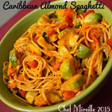 Caribbean Almond Spaghetti