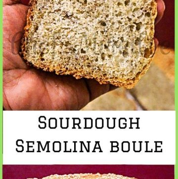 Sourdough Semolina Flaxseed Boule