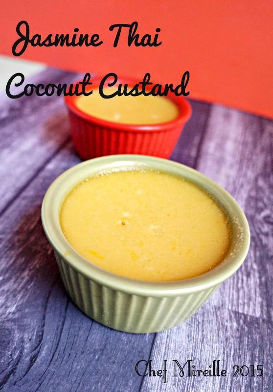 Thai Coconut Custard, Jasmine Coconut Custard