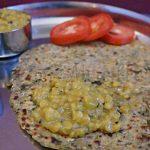 Paneer Bottle Gourd Paratha, Green Mango Dal