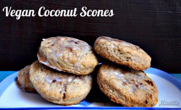 #Vegan Coconut Scones, Scones, Eggless Scones
