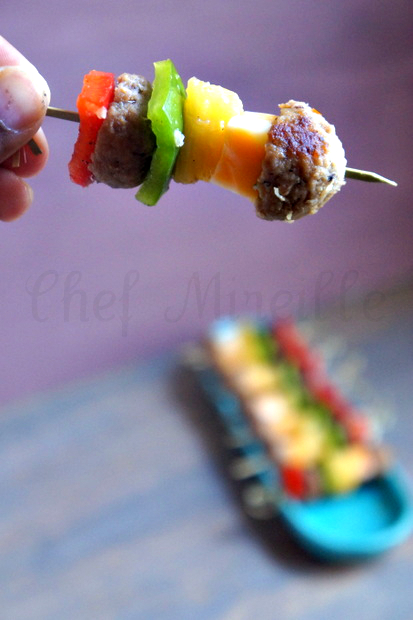 Meatball Kebabs, Party Food, #backyoursnack