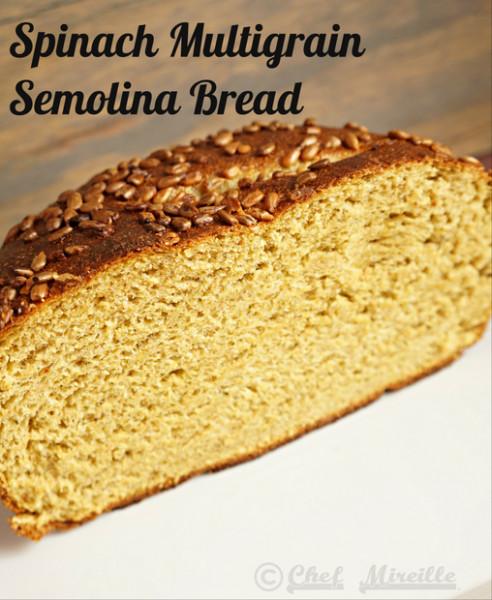 Multi Grain Bread, Spinach Semolina Bread