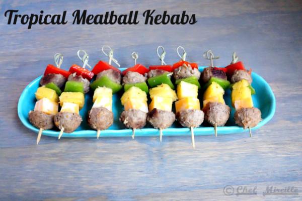 Tropical Meatball Kebab, #backyoursnack, #collectivebias