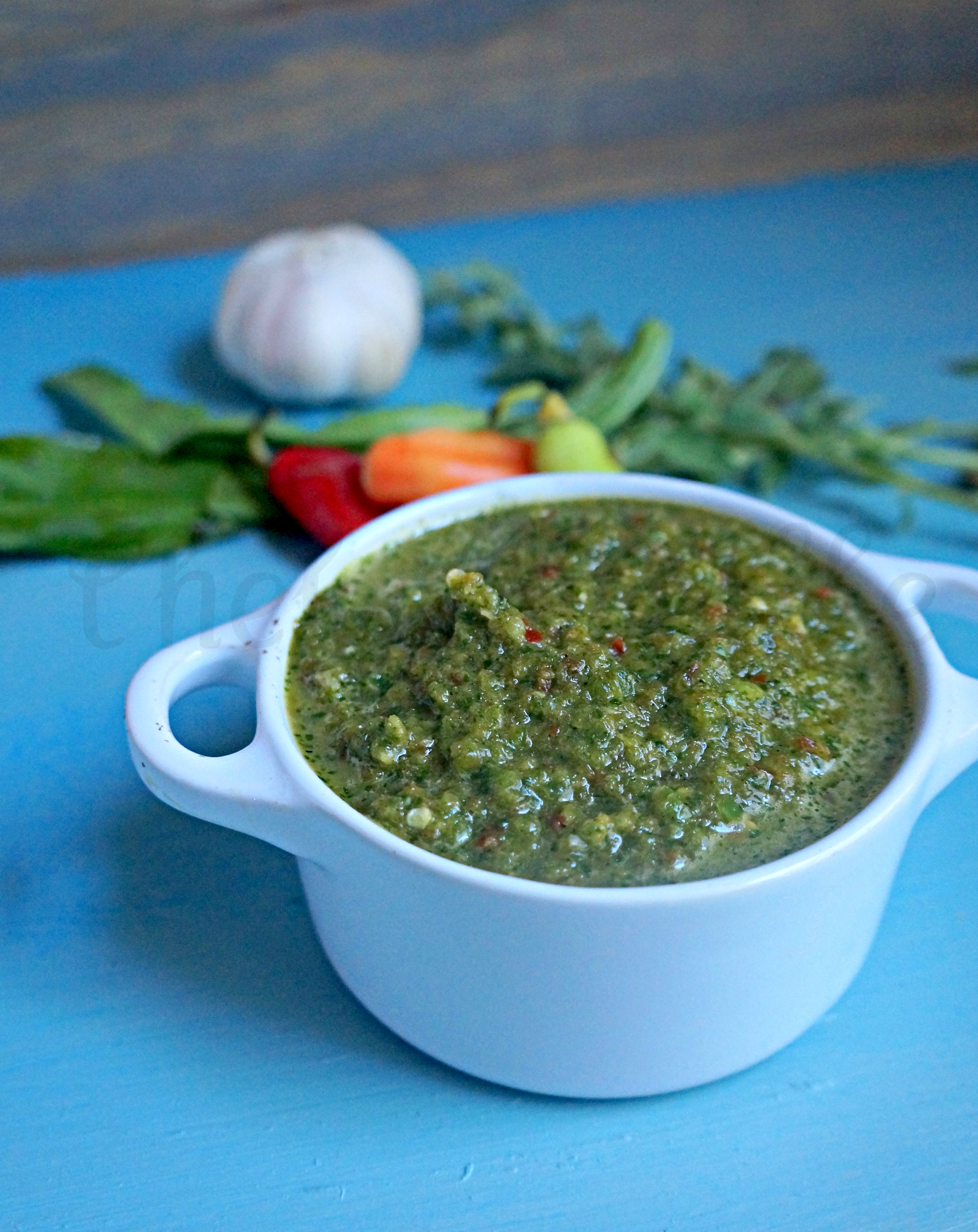 bowl of Homemade Sofrito with ingredients