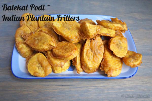 Plantain Fritters, Balekai Podi