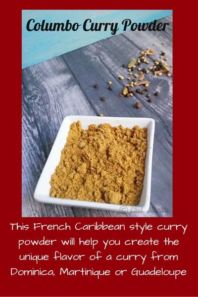 Curry Powder, French Caribbean Curry