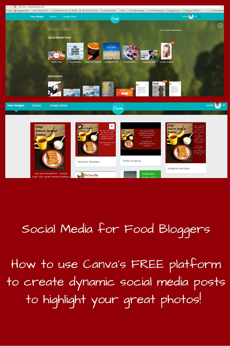 Using Canva – Social Media Tips for Food Bloggers