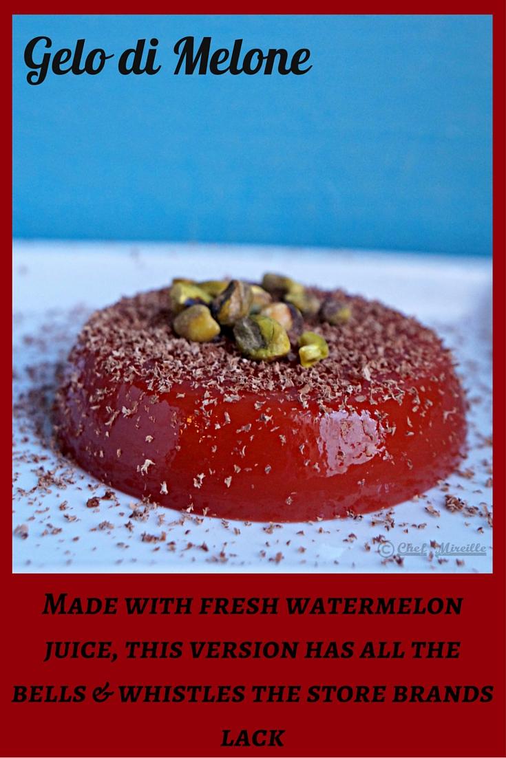 Gelo di Melone, Sicilian Watermelon Jello