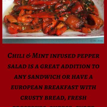 Roasted Pepper Salad, Chili Pepper Salad, Homemade Roasted Red Peppers