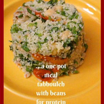 Bulgur Chickpea Salad #onepotmeal