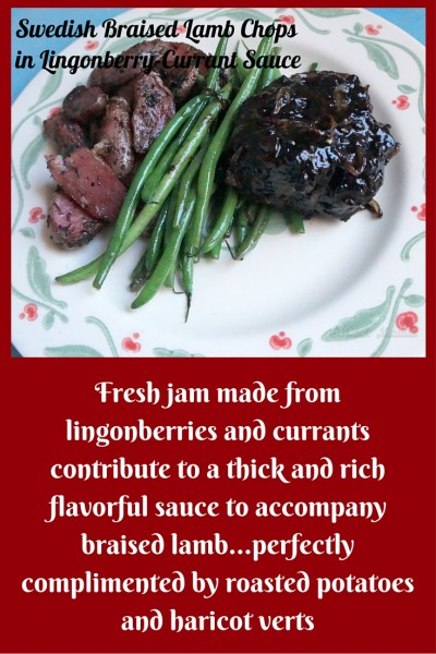 Swedish Braised Lamb, Tart Berry Jam, Lingonberry Currant Jam