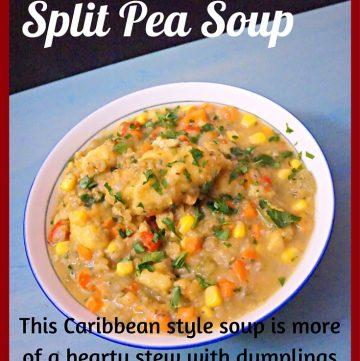 Split Pea Soup, Cornmeal Dumplings