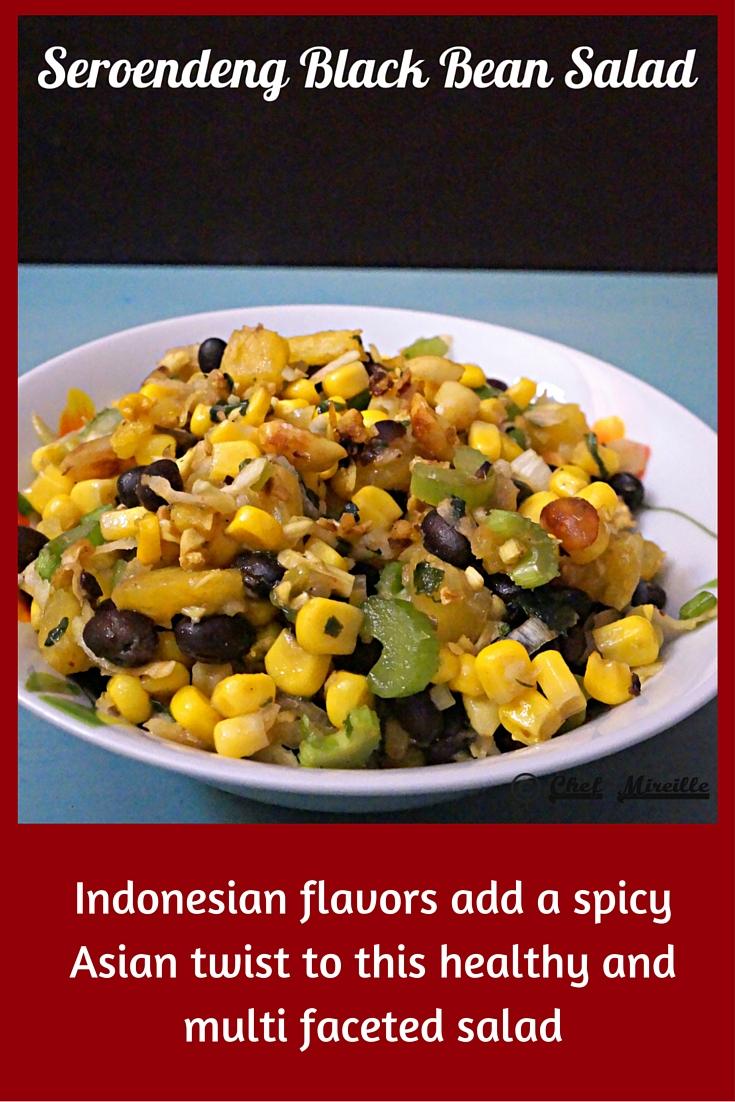 Seroendeng Black Bean Salad