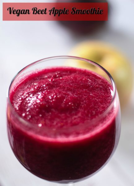 Vegan Beet Apple Berry Smoothie